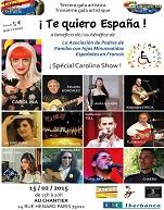 Artistes espagnols du gala de charité