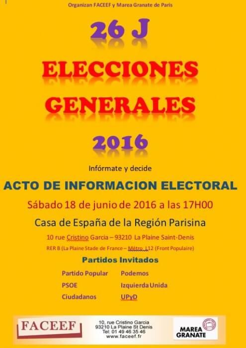 2016 acto electoral faceef marea granate